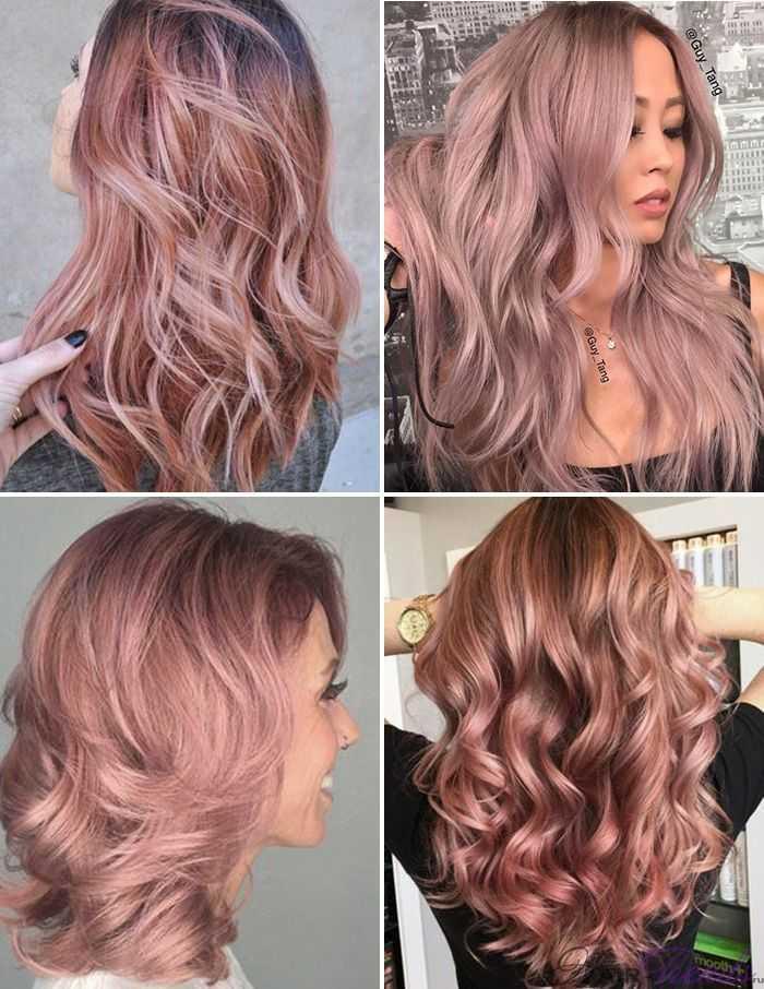 Модное окрашивание светлых волос, Античная Роза