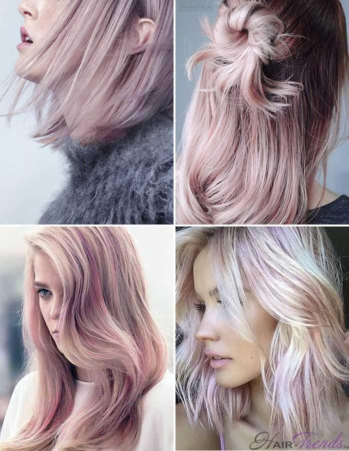 Модное окрашивание светлых волос, Розовый Кварц