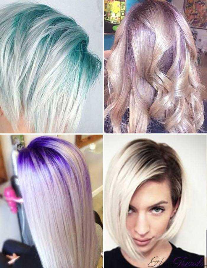 Модное окрашивание светлых волос, Затемненные Корни