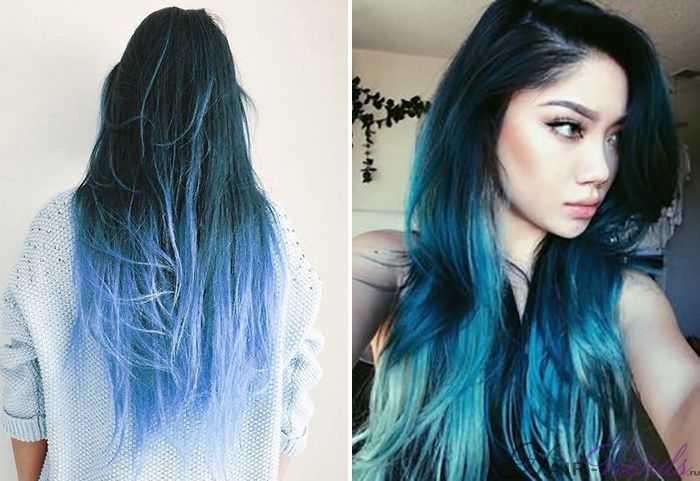 Модное окрашивание темных волос