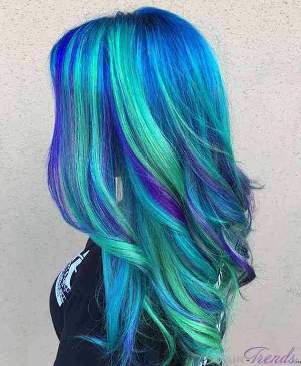 Морской цвет волос или цвет морской волн