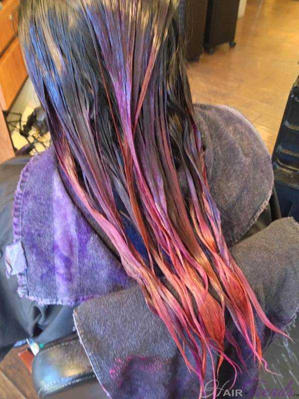 Окрашивание сансет или волосы цвета заката