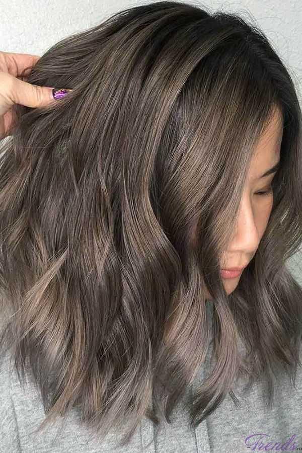 Пепельно-каштановый цвет волос
