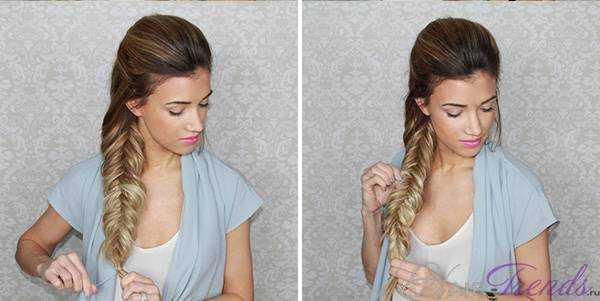 Плетение объемных кос