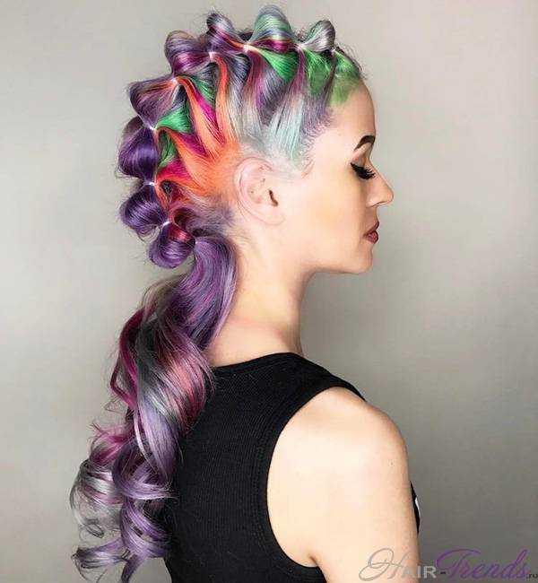 Радужный цвет волос