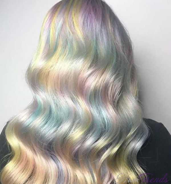 Разноцветные пряди волос - модное окрашивание калейдоскоп