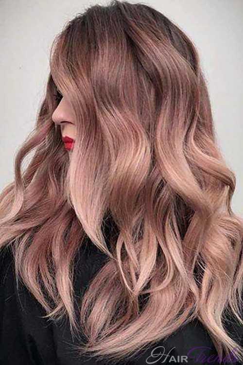 Разнообразие оттенков для волос розовое золото