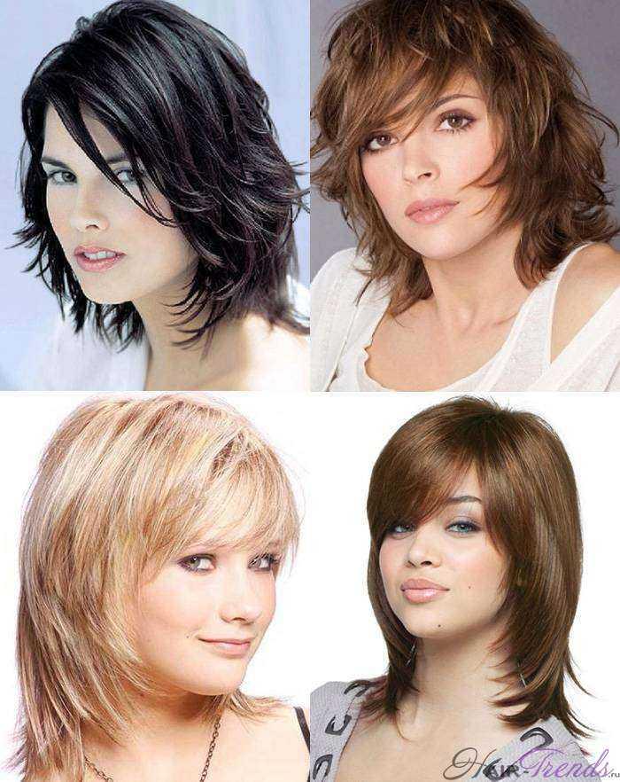Причёска для круглого лица и короткой шеи