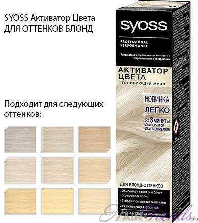 Syoss активатор цвета для блонд-оттенков