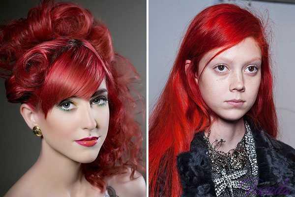 Цвет волос Красный огонь