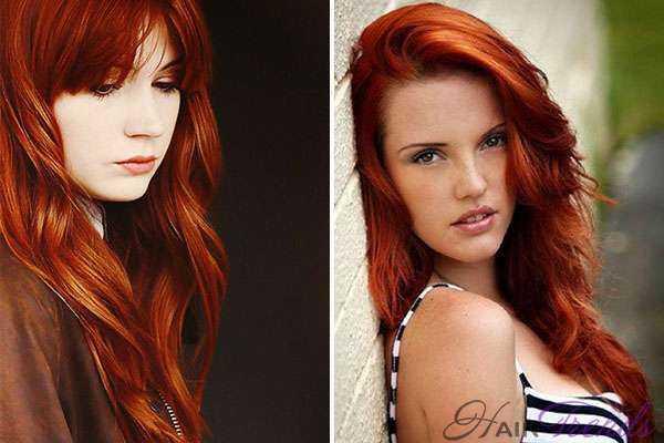 Цвет волос красный с рыжим